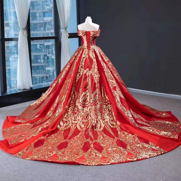 Evening Gowns Red Sweetheart Dress