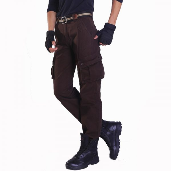 Men Baggy Cargo Pants Straight Trousers