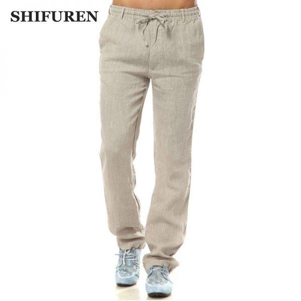 Summer Linen Pants Casual Straight Pants