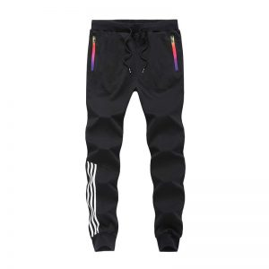 Men Pants Striped Jogger Sweatpants