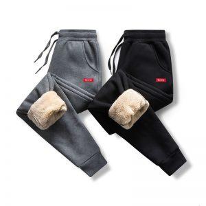 Men Sweatpants Warm Fleece Pants
