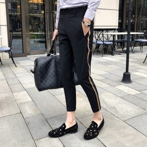 Side Tape Pant Casual Office Trousers
