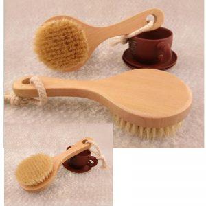 Natural Bristle Detox Shower Bath Brush