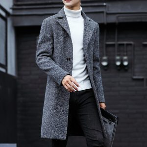 Long Trench Coat Wool Trench Coat