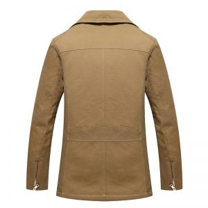 Casual Trench Jacket Washed Trench Coat