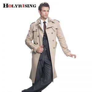 Trench Coat Men British Style Overcoat