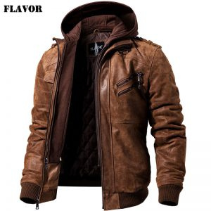 Real Leather Jacket Winter Coat