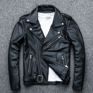 Classical Motorcycle Jackets Biker Coat