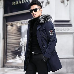 Real Fur Coat Long Winter Jacket