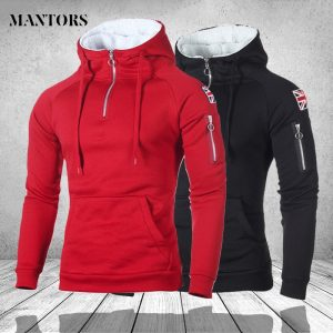 Men Patchwork Hoodies Sweatshirt