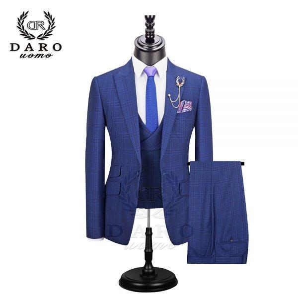 Fashion Plaid Suit Wedding Dress