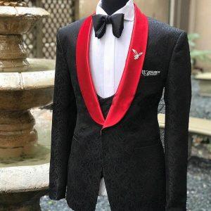 Printed Formal Groom Wedding Suits