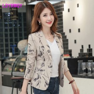 Korean Blazer Printing Small Suit