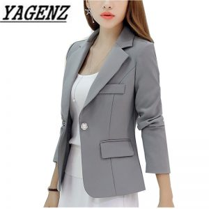 Ladies Business Suit Slim Short Blazer