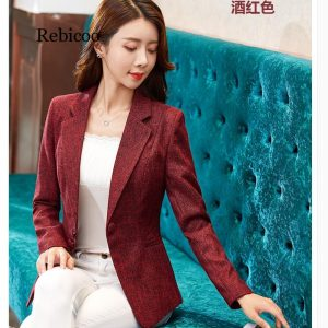 Long Sleeve Blazer Women Thin Blazers