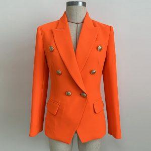 Women Double Breasted Blazer Jacket
