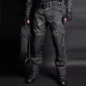 Men Jogger Military Cargo Sweatpants