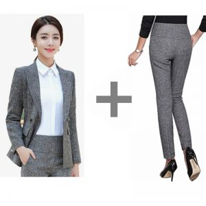 Formal Pant Suits Women Blazer