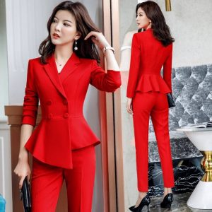 Formal Elegant Suits Ladies Trousers