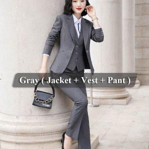 3 Pieces Gray Suit