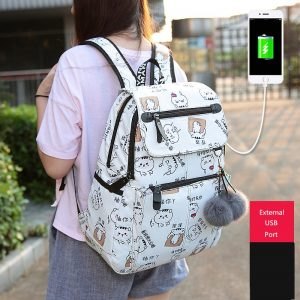 School Bags Girls Laptop Backpack