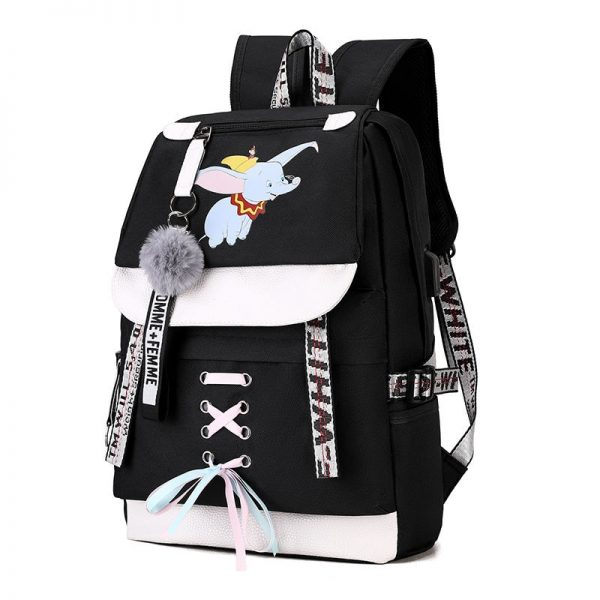 Canvas USB School Bags for Girls