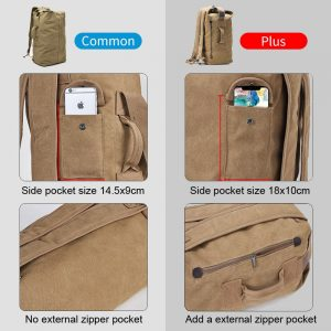 Military Canvas Backpacks Travel Bag