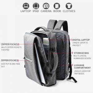 Business Travel Compartment Backpacks