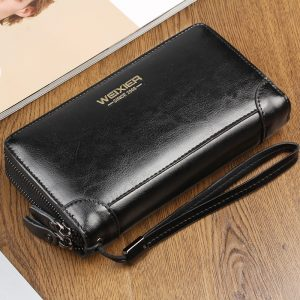 Men's Leather Wallet Card Holder