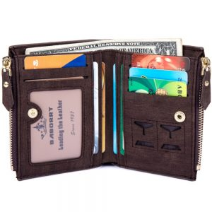 PU Leather Biflod Short Wallet