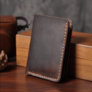Genuine Leather Wallet Men Purse