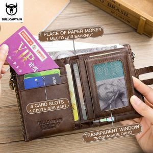 Genuine Leather RFID Men Wallet
