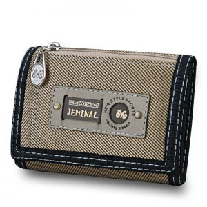 Canvas Male Purses Short Wallet