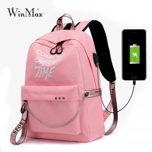 Luminous USB Charge Women Backpack