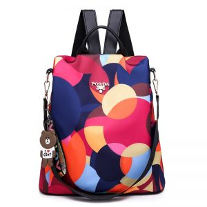 Nylon Women Backpack Print Bag
