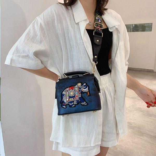 Vintage Embroidery Elephant Bag