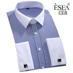 Men's Classic French Cufflinks Shirt