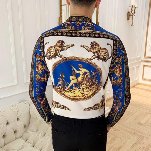 Luxury Print Men's Shirt Floral Shirt