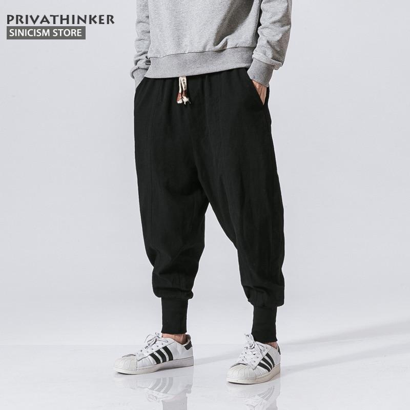 Men Harem Pants Cotton Linen Trouser