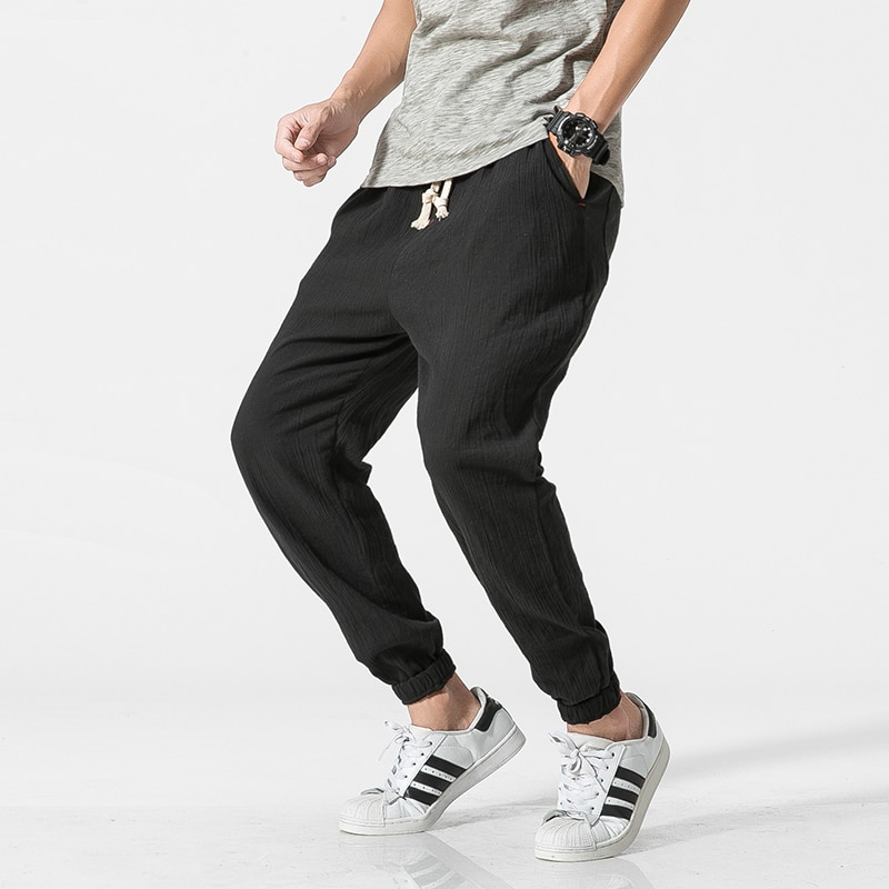 Hot Cotton Linen Men Pants