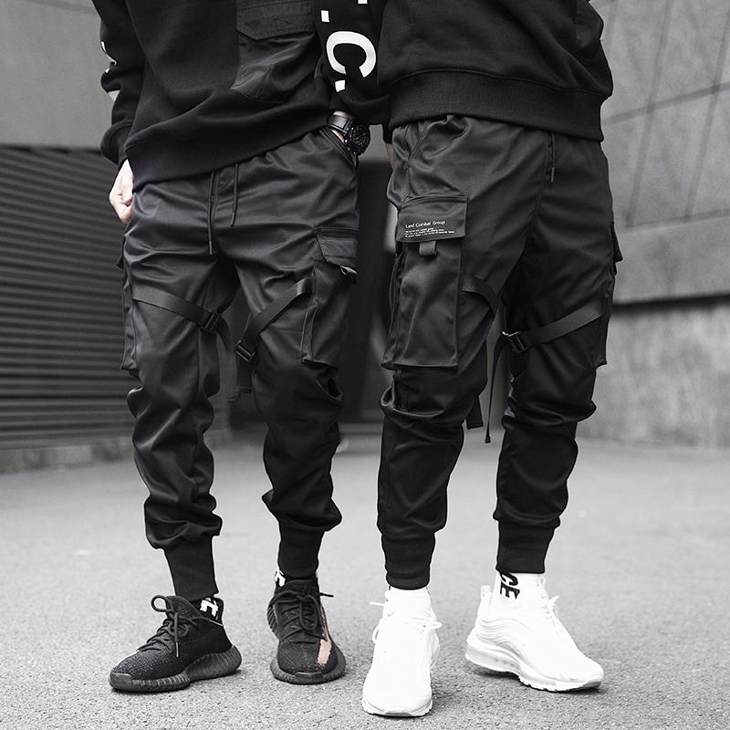 Men Cargo Pants Harem Joggers