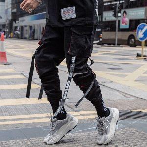 Black Cargo Pants joggers Sweatpants