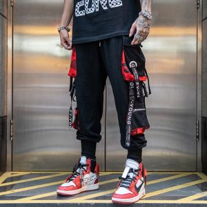 Black Cargo Pants joggers Sweatpants