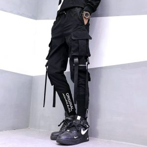 Hip Hop Ribbons Cargo Pants