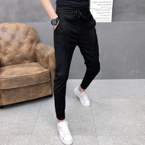 Korean Joggers Winter Thick Pants