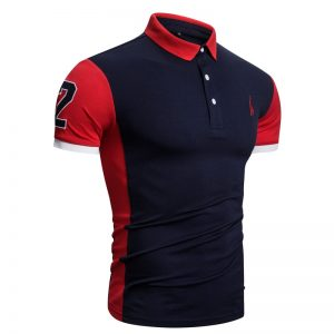 Men Giraffe Embroidery Polo Shirt