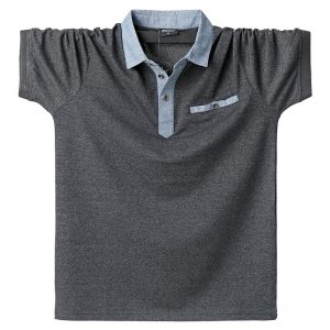 Men Polo Shirt Contrast Polo Shirts