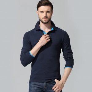 Polo Shirt Men Slim Fit Polos Tops