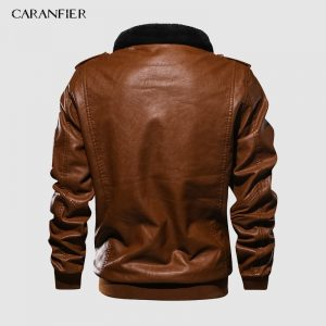 PU Leather Jacket Warm Jacket