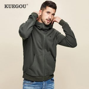 100% Cotton Black Plain Hoodie